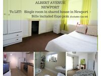 ROOM TO LET IN SHARED HOUSE - ALBERT AVENUE, MAINDEE, NEWPORT