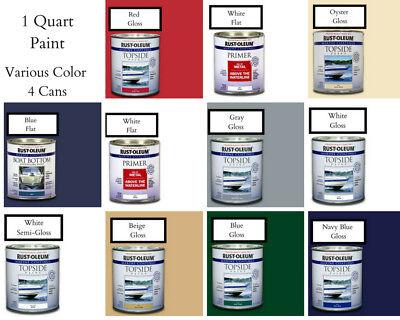 (Rust-Oleum Marine 1 qt. Gloss Flat Top-side Paint UV Resistance Various Colors)
