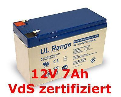Sun Battery SB12-7.0 12V 7Ah Abus Ersatzakku Akku  Batterie 12Volt 7,0Ah 7,2Ah  ()