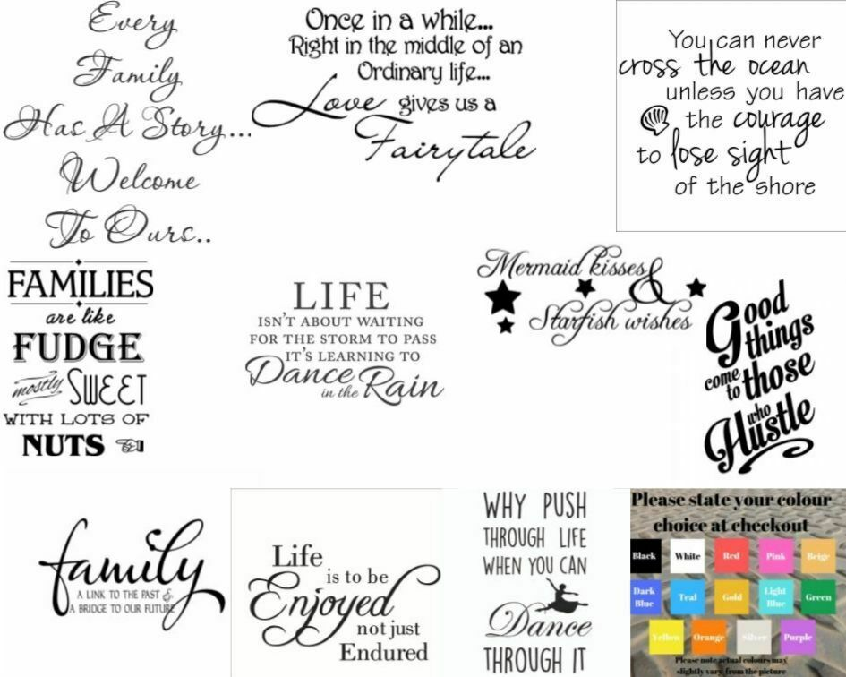 Home Decoration - Wall art stickers quotes removeable Home decor, quality vinyl decal quotes