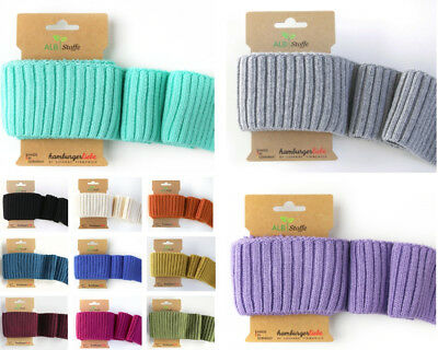 Knitted cuff me, ribbing, organic, 110 cm long, 7cm wide, 910 gsm, 12 colours