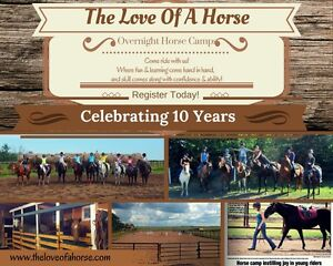 Summer Horse Camp. 10th Year. Register Today!