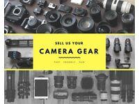 Cash paying for all Camera Gear. Canon, Nikon, Sony, Fuji, Leica, Panasonic