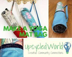 Make an Easy Sew Yoga Mat Bag! Join us Sat 11th Nov, 2.30 - 5.30