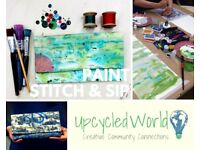 Paint Stitch & Sip! Design & Make a Bag... Sat Feb 24th 4pm - 7pm