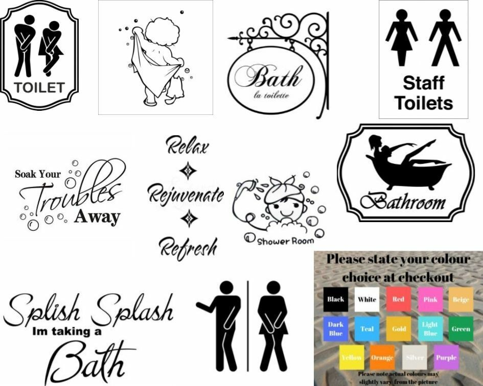 Home Decoration - Wall art stickers for bathroom toilet Home decor, quality vinyl decal quotes