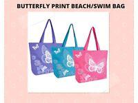BUTTERFLY PRINT BEACH/SWIM BAG