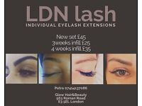 Classic individual eyelash extensions from £25!!