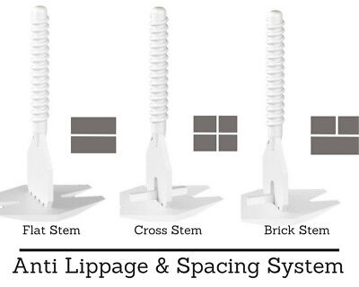 Levelmax Anti Lippage & Spacing System Stem Flat Ridgid Tile Hand Tool Brick Ste