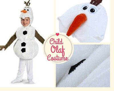 Olaf Costume For Kids (Frozen Deluxe Snowman Child Olaf Halloween Costume For Toddler Kids)