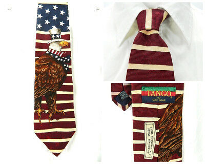 Max Eagle Series - Patriotic Silk Necktie Tango by Max Raab American Series American Flag Eagle