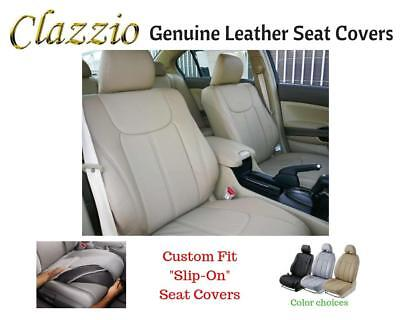 Clazzio Genuine Leather Seat Covers for 2011 Nissan Versa Hatchback SL
