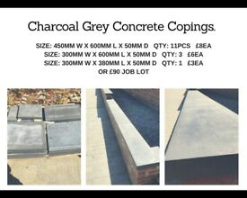 Charcoal Grey Concrete Copings