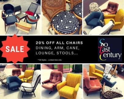 SALE 20% OFF all chairs till 18th February 2018