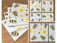 Ceramic Drinks Coasters Homemade Honey Bees