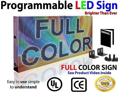 Full Color Video Image 12x 50 Programmable Led Sign Scrolling Message Display