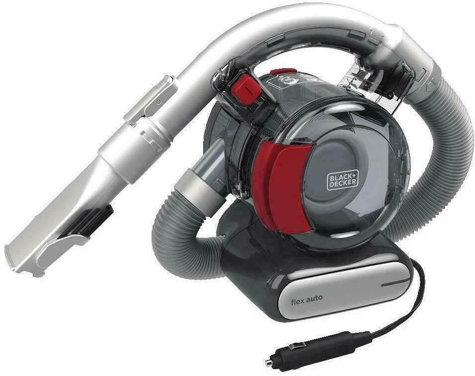 BLACK+DECKER Flex Car Vacuum, 12V Corded , Iron/Red