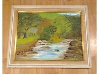 VINTAGE ORIGINAL OIL PAINTING, SIGNED, 1970S, FRAMED, WATERSMEET, LYNTON DEVON COUNTRYSIDE for sale  Whitchurch, Cardiff