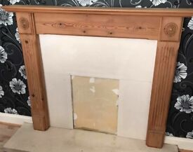 FIRE SURROUND WITH MARBLE HEARTH AND BACK