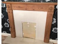 FIRE SURROUND REAL PINE