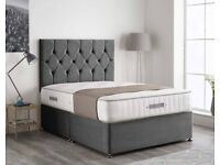 🐩🐩 High Quality Plush Steel Divan buttoned headboard on Clearance Sale 🐩🐩