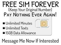 Free SIM Forever with unlimited benefits