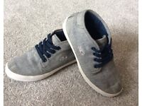 Boys Trainer. Lacoste Canvas Lace Up Mid High Trainer. Size 11.
