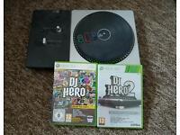 Xbox 360 dj hero 1&2