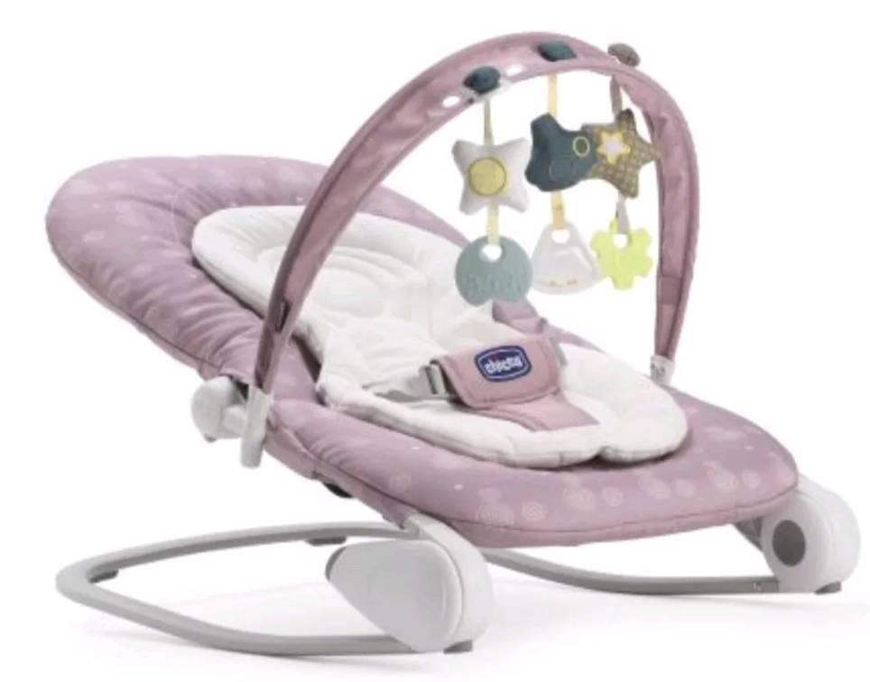 Chicco Hoopla Pink Baby Bouncer Chair In Mountain Ash