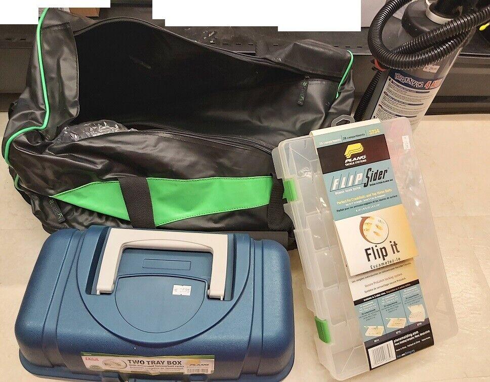 Zubehörpaket 638 Browning Tasche Luftpumpe Zubehörbox Angelkoffer Koffer Bag