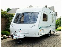 Bessacarr Cameo 495 SL 2006 Two Berth Touring Caravan + Mover + Awnings