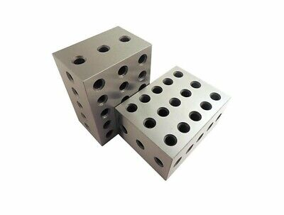 2 PC 2 3 4 Metal Blocks 23 Holes Milling Drilling Machining Precision Block