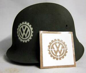 WW2-German-VW-Volkswagen-Factory-Helmet-Stencil-Template-WWII-M34-M35-M40-M42