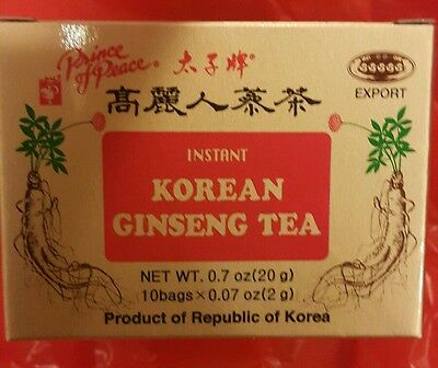 Prince Of Peace Korean Ginseng Instant Tea - 10 bags in box   FREE SHIPPING!