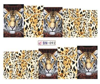 Nagelsticker Nagel Tattoos Nail Sticker Wraps Tiger Raubkatze Animalprint Leo