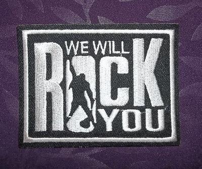 QUEEN PATCH WE WILL ROCK YOU FREDDIE MERCURY RAMI MALEK CLASSIC ROCK - Will Rock Patch