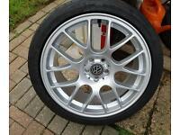 Vw 18 inch Alloys wheels & tyres