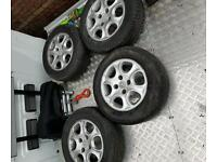 Peugeot 206 ..51 plate alloys 185 65 r 14 .good condition. Tyres are good