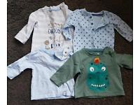 boy's newborn/first size clothes bundle with nappies