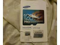 128gb memory card from samsung pro