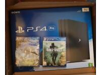 Ps4 Pro 1TB with 2 unopened games