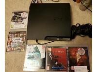 Playstation 3 PS3 250GB SLIM + 5 games
