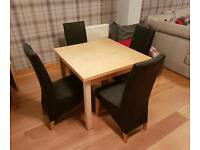 Extending Table and 4 x Chairs
