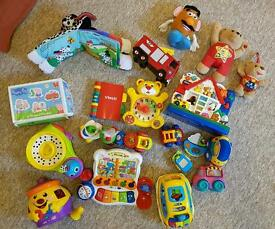 Bundle of Vtech/ Fisherprice musical/ cause and effect toys