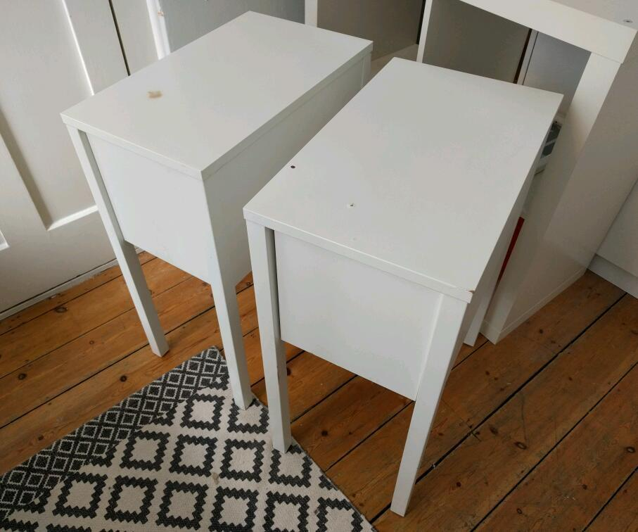 Two Bedside Tables Ikea Nordli In Waterloo London