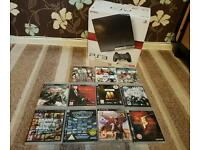 Boxed ps3 120gb console plus 11 games including GTA V