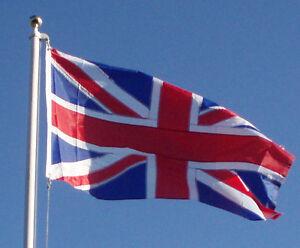 ALL SEWN NYLON UNION JACK FLAG 5' X 3' CANVAS SLEEVE BRITISH FLAG