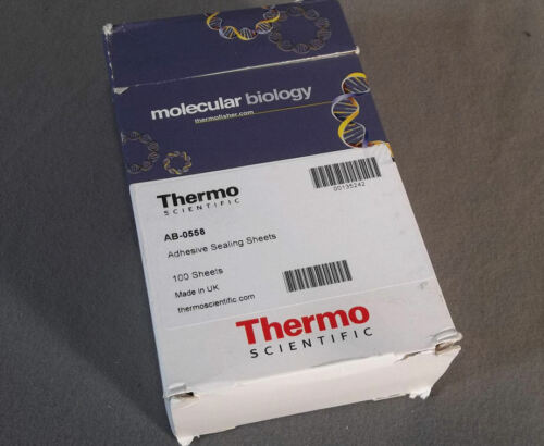 Pkg-100 Thermo Scientific Adhesive PCR Plate Sealing Sheets # AB0558