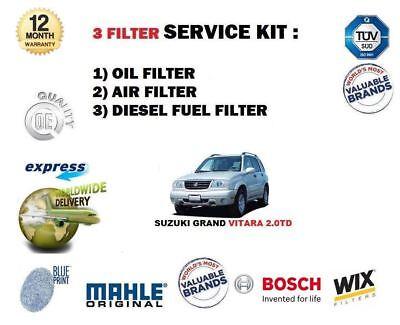 Pour Suzuki Grand Vitara 2.0 Dt Hdi XL7 1998-2005 Filtre à Carburant Air Huile