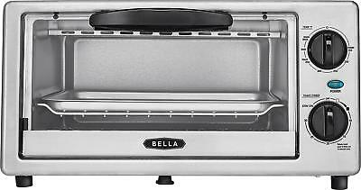 Bella - 4-Slice Toaster Oven - Disgraceful/silver